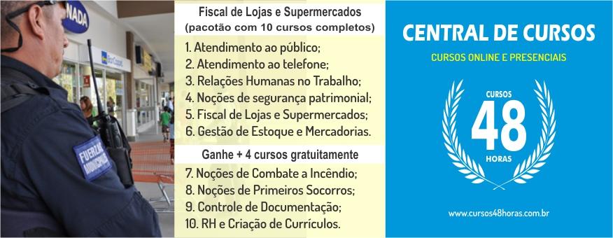Curso AGP Nº 08 - Fiscal de Loja e Supermercados