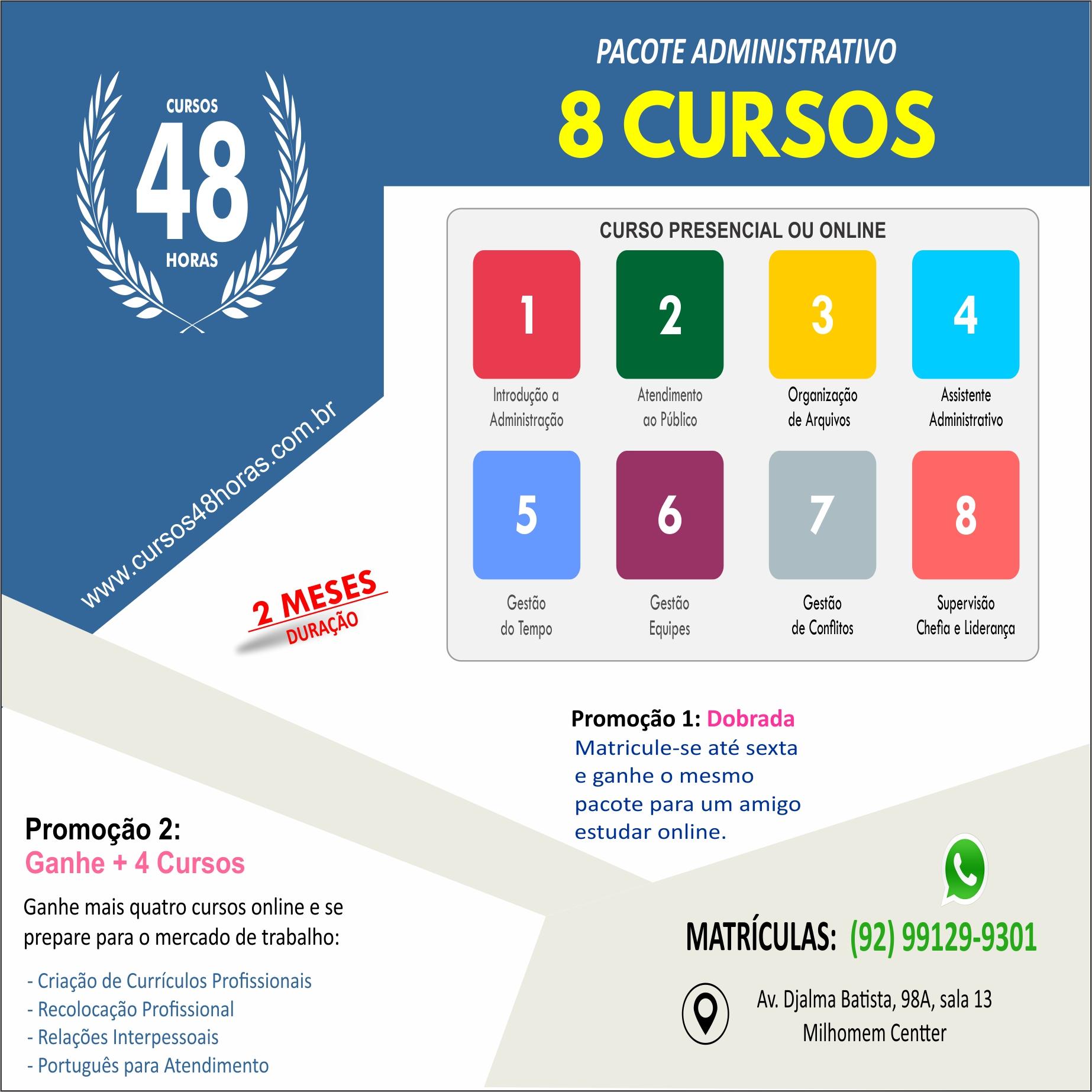 Pacote Administrativo (13 cursos)